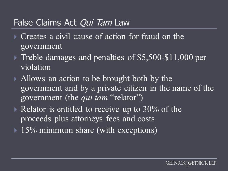 False Claims Act Qui Tam Law