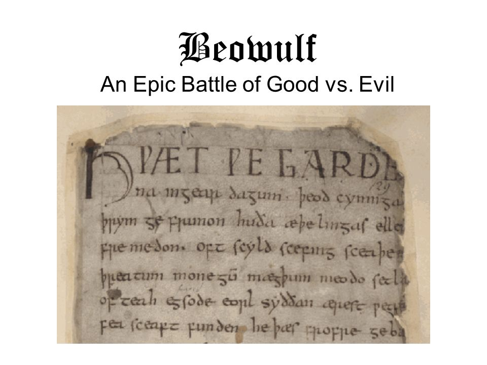Beowulf An Epic Battle of Good vs. Evil
