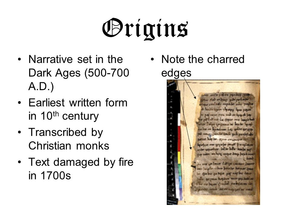 Origins Narrative set in the Dark Ages (500-700 A.D.)