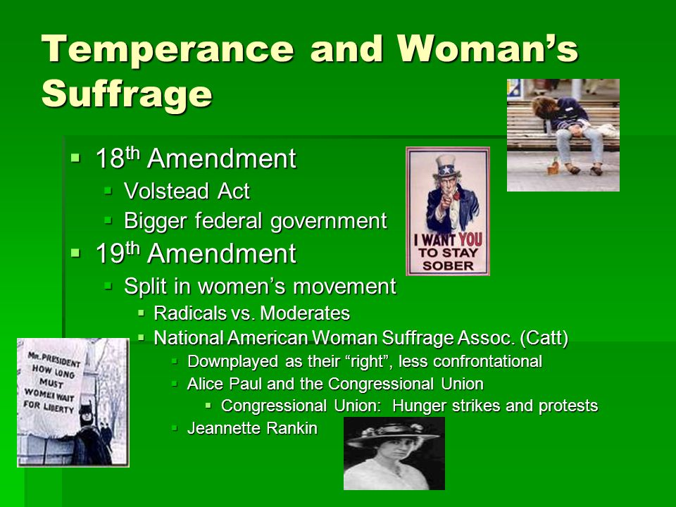 Temperance and Woman's Suffrage