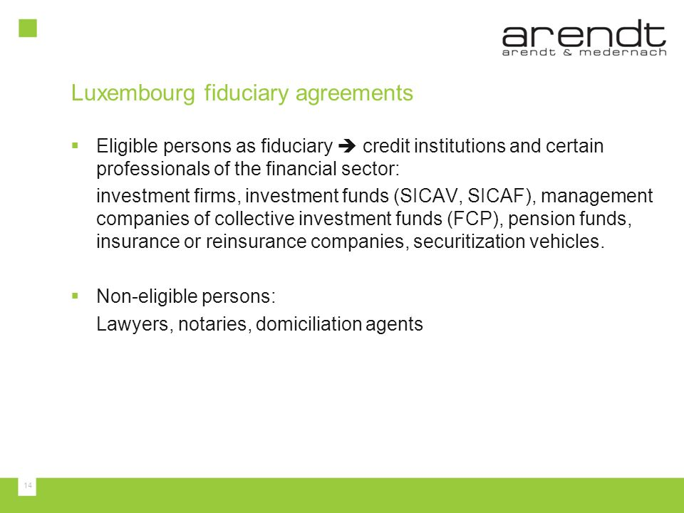 Luxembourg fiduciary agreements