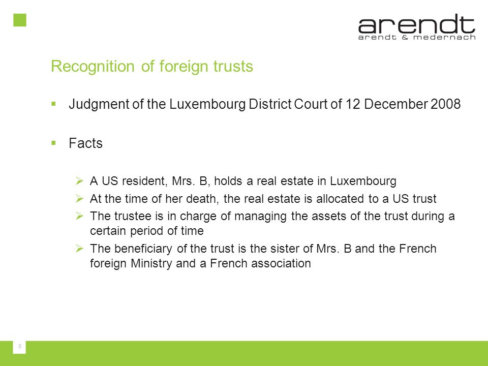 Recognition of foreign trusts