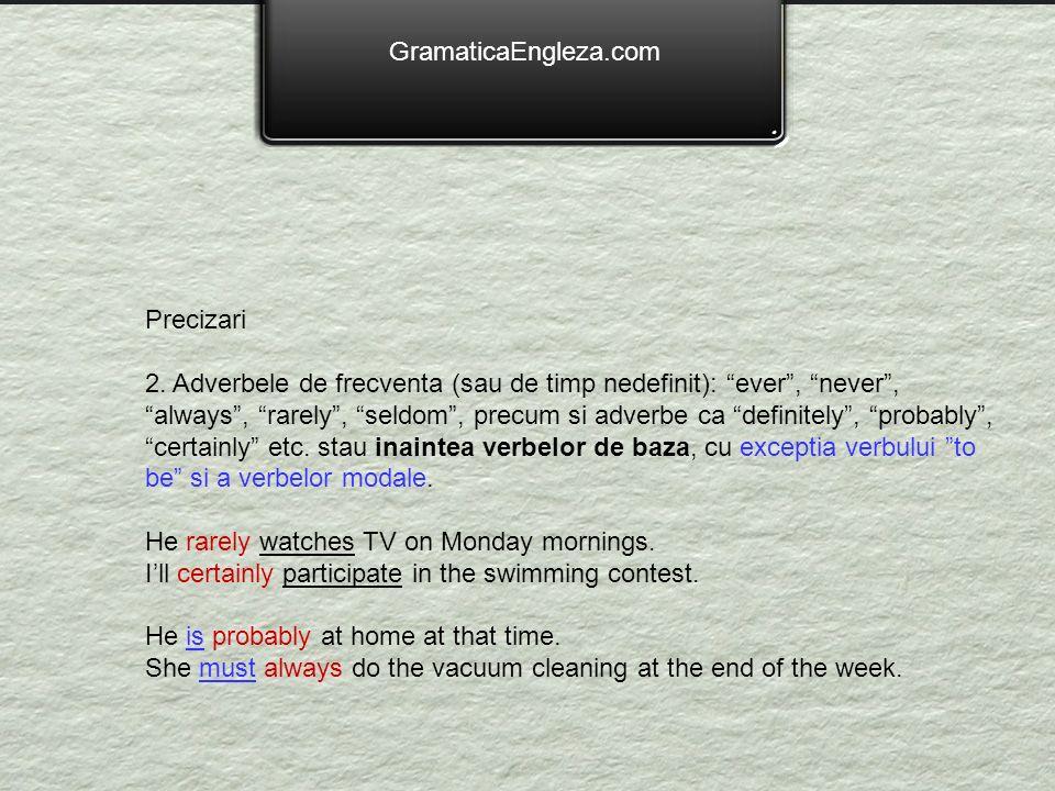 GramaticaEngleza.com Precizari.