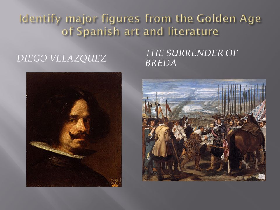 Identify major figures from the Golden Age of Spanish art and literature