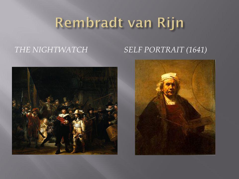 Rembradt van Rijn The Nightwatch Self Portrait (1641)