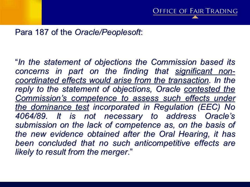 Para 187 of the Oracle/Peoplesoft:
