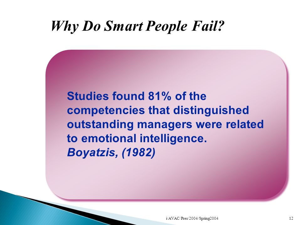 Why Do Smart People Fail