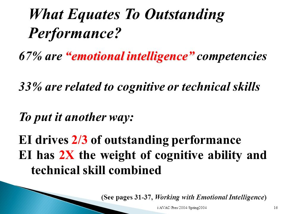 What Equates To Outstanding Performance