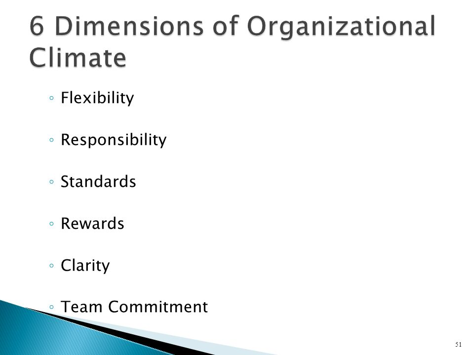 6 Dimensions of Organizational Climate
