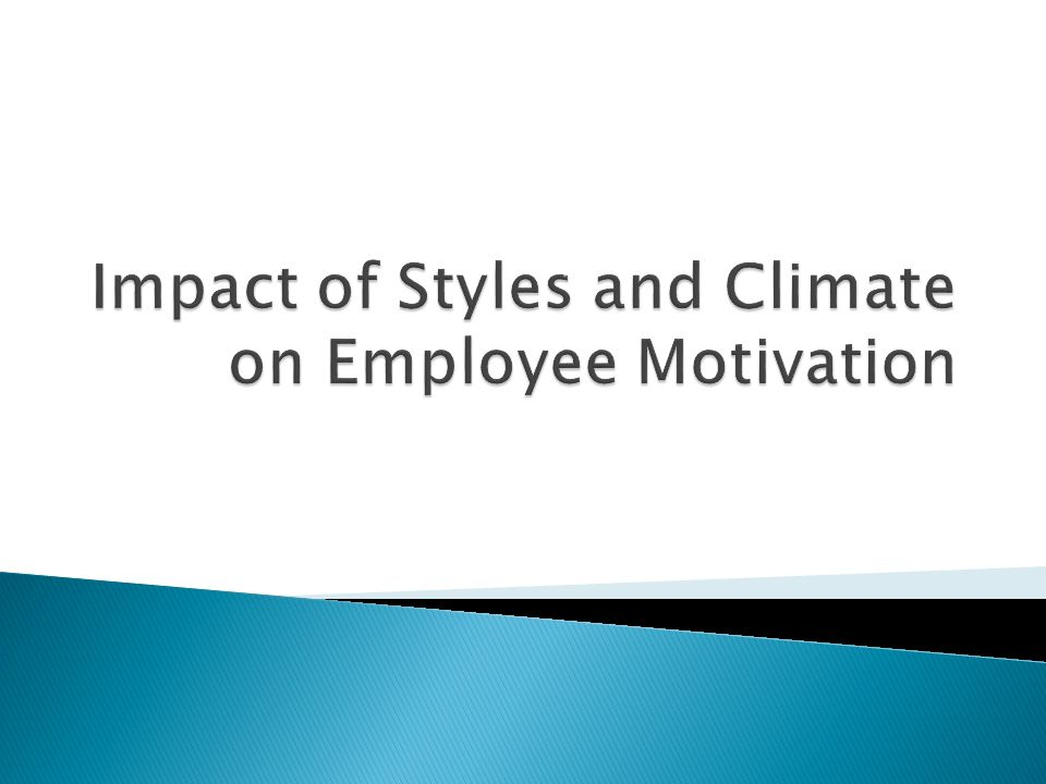 Impact of Styles and Climate on Employee Motivation