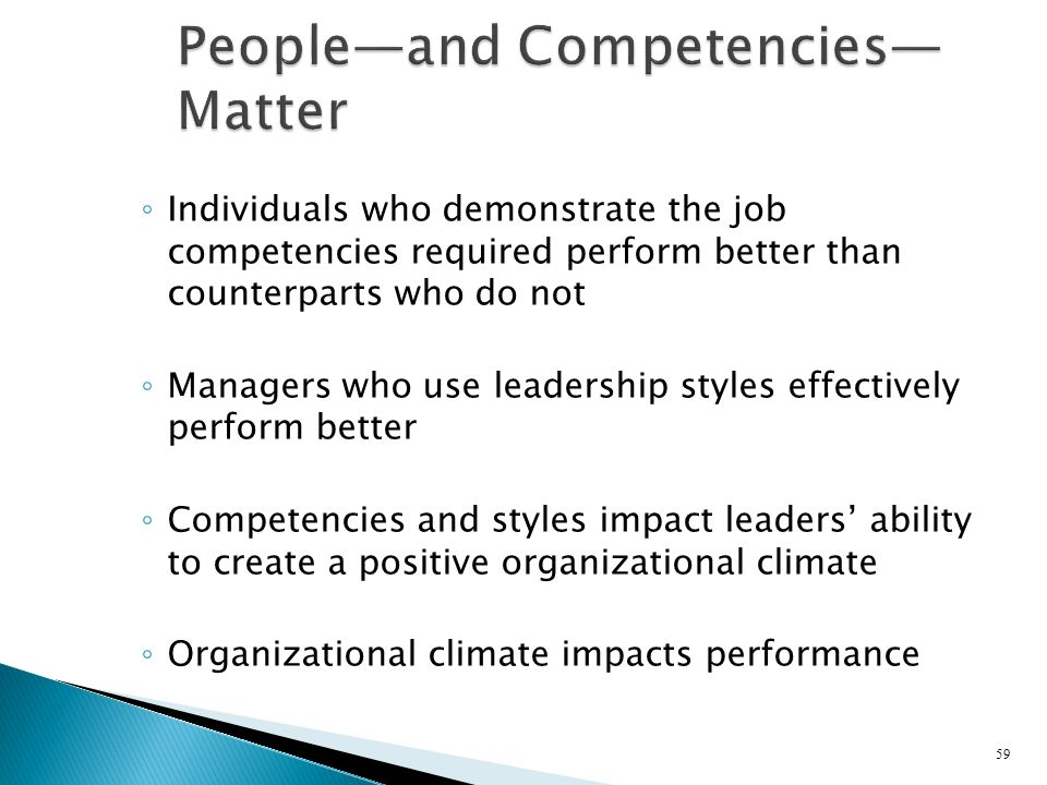 People—and Competencies—Matter