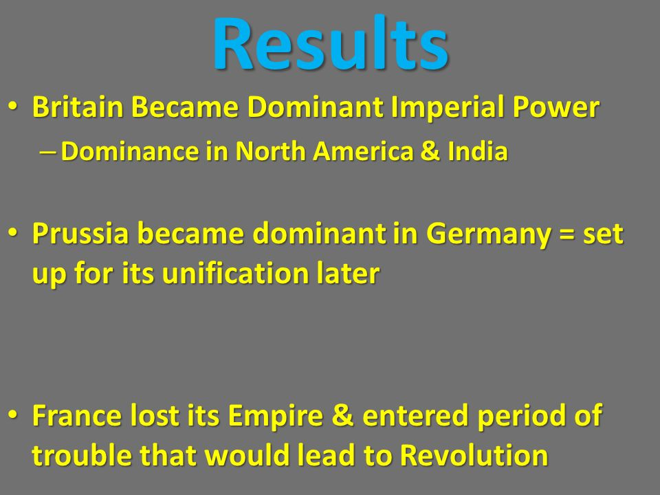 Results Britain Became Dominant Imperial Power