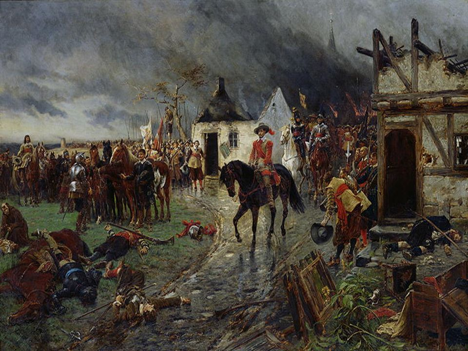 Catholic General Wallenstein after his victory at
