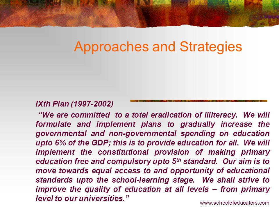 Approaches and Strategies