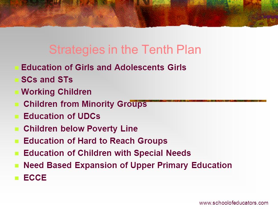 Strategies in the Tenth Plan