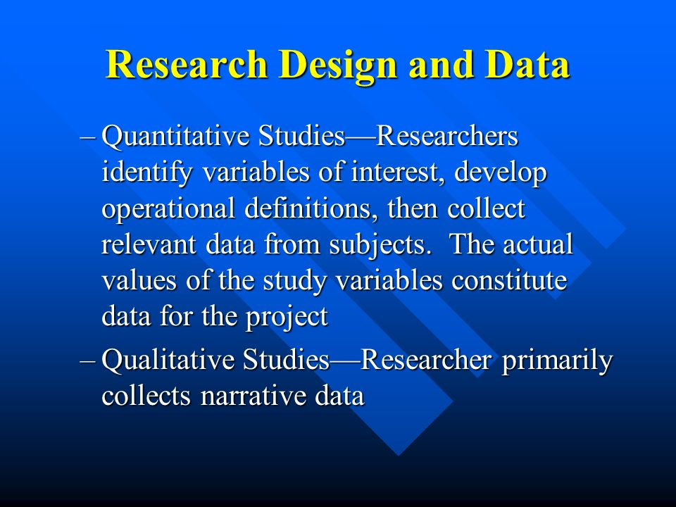 Research Design and Data