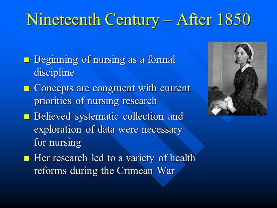 Nineteenth Century – After 1850