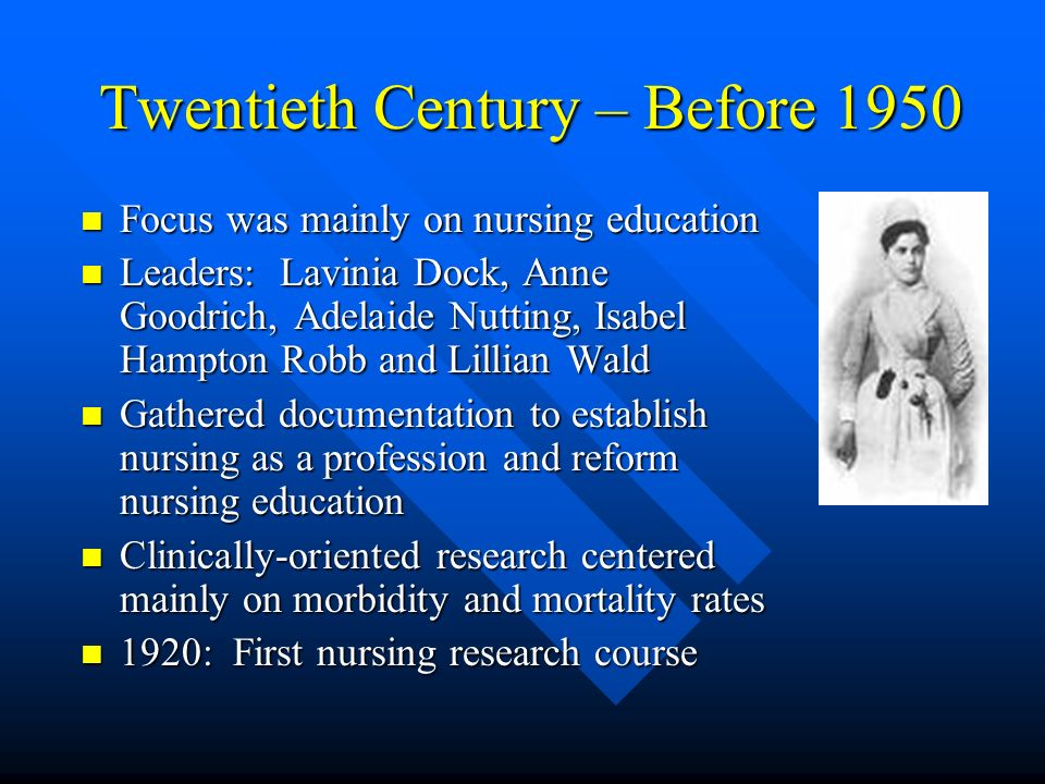 Twentieth Century – Before 1950