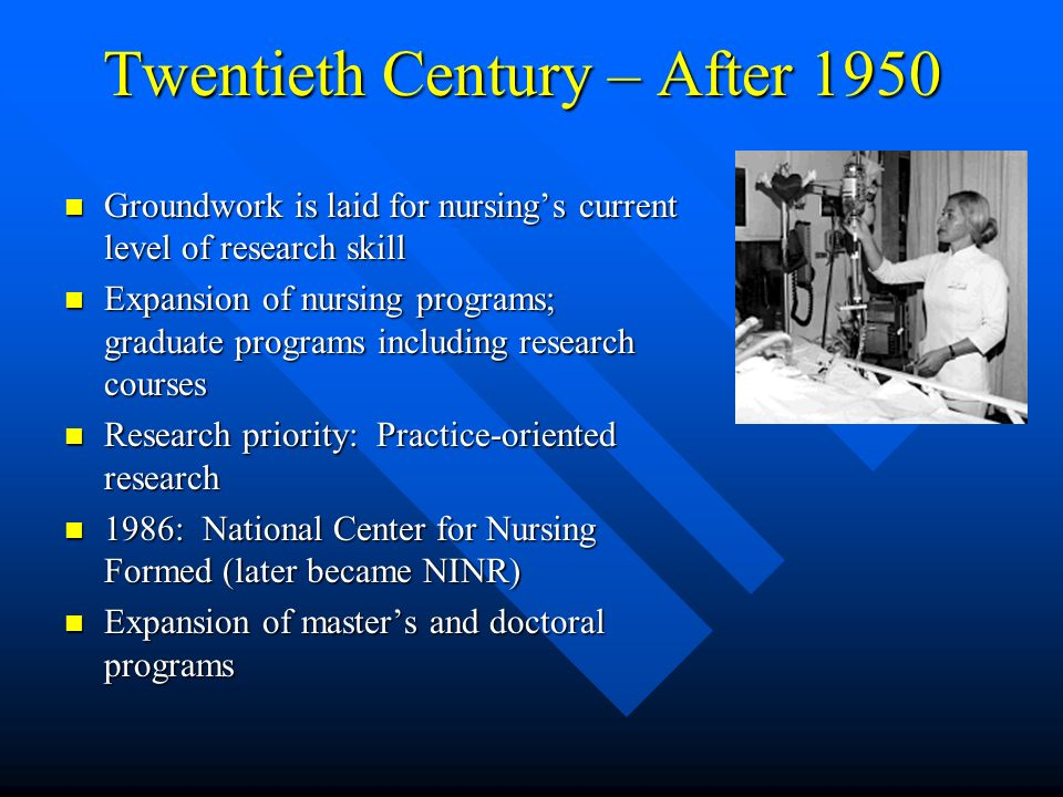 Twentieth Century – After 1950