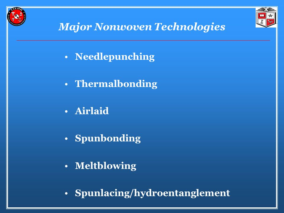 Major Nonwoven Technologies