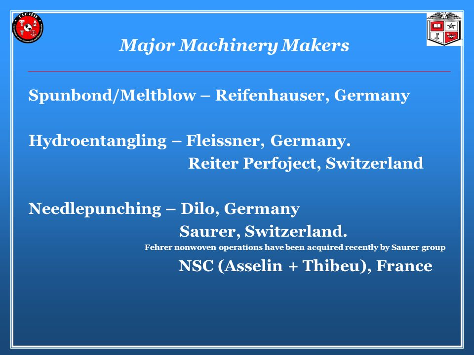 Major Machinery Makers
