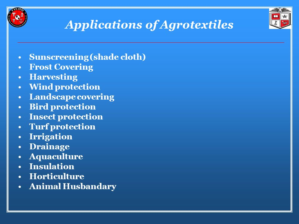 Applications of Agrotextiles