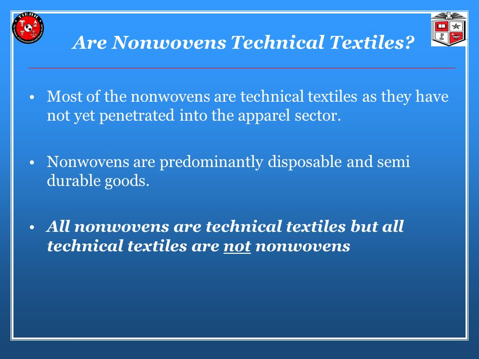 Are Nonwovens Technical Textiles