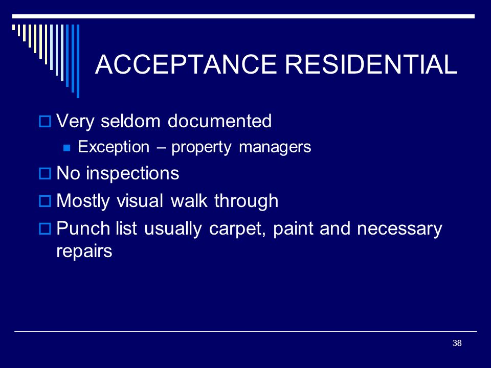 ACCEPTANCE RESIDENTIAL