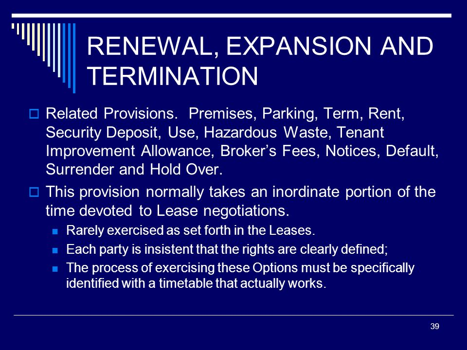 RENEWAL, EXPANSION AND TERMINATION