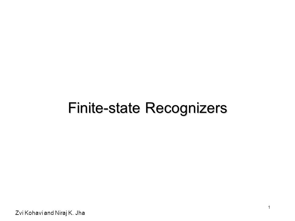 Finite-state Recognizers