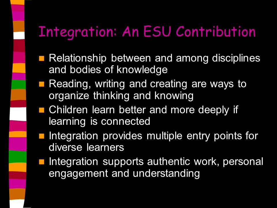 Integration: An ESU Contribution