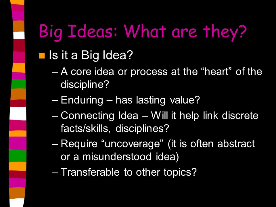 Big Ideas: What are they
