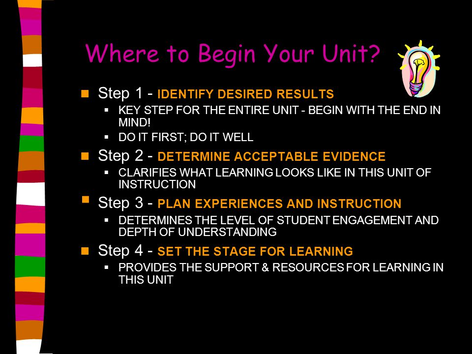 Where to Begin Your Unit