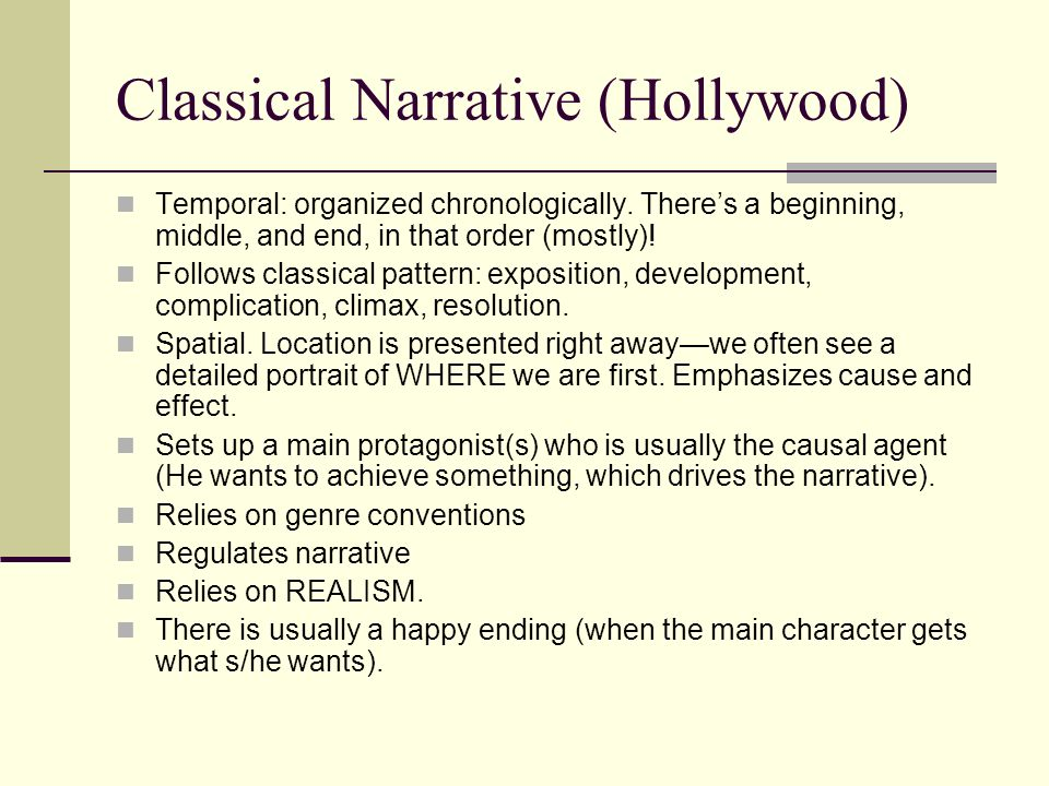 Classical Narrative (Hollywood)