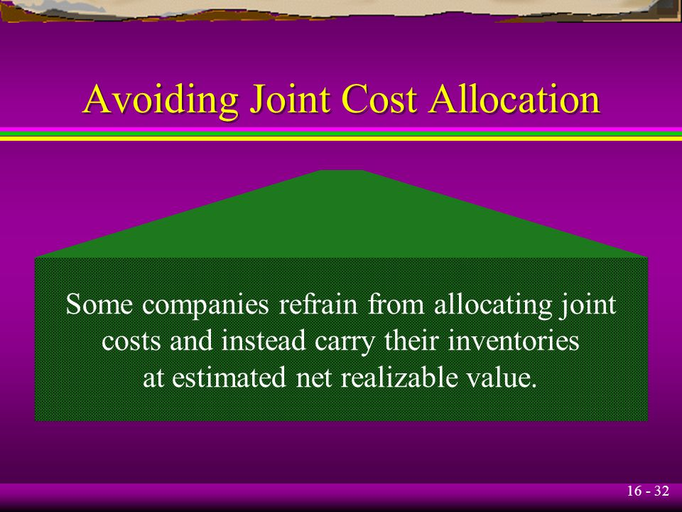 Avoiding Joint Cost Allocation