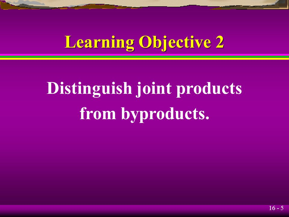 Distinguish joint products