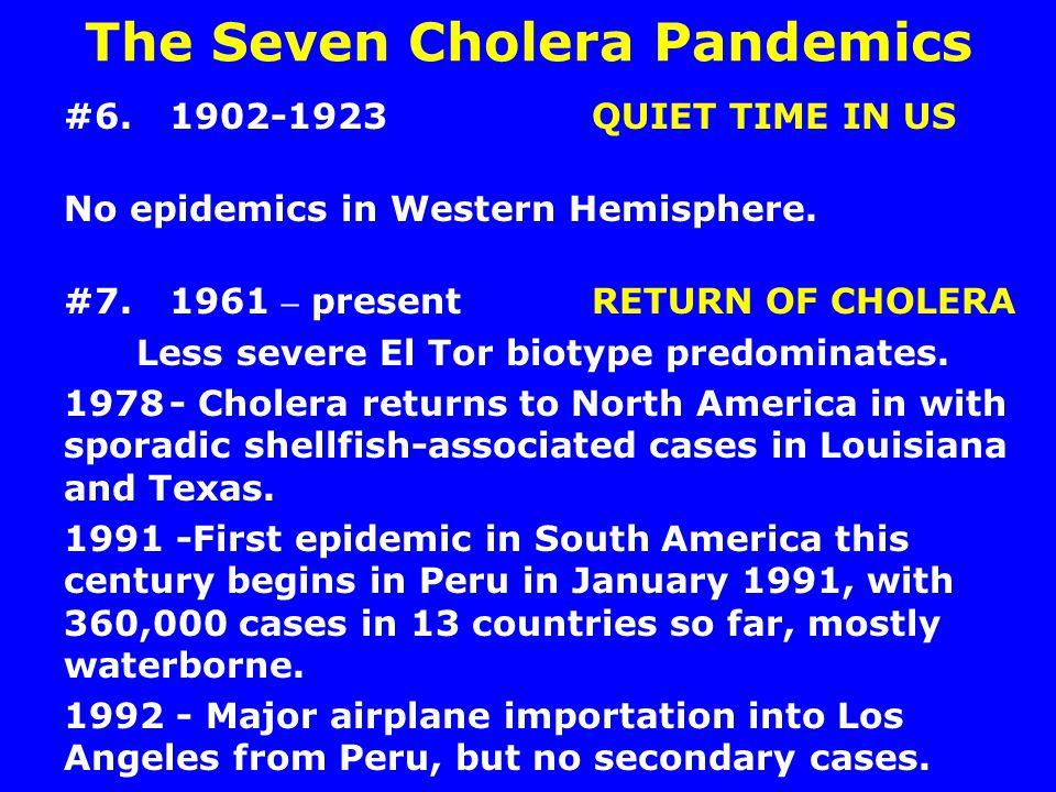 The Seven Cholera Pandemics