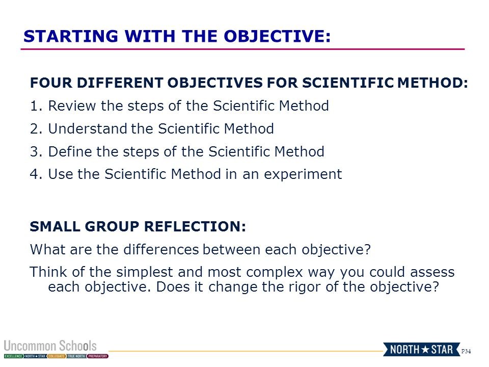 STARTING WITH THE OBJECTIVE: