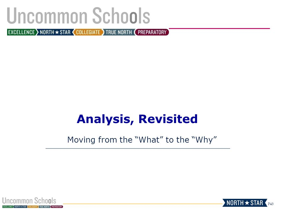 Moving from the What to the Why