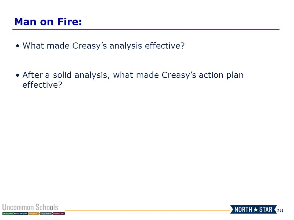 Man on Fire: What made Creasy's analysis effective