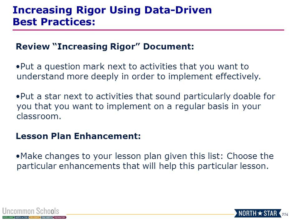 Increasing Rigor Using Data-Driven Best Practices: