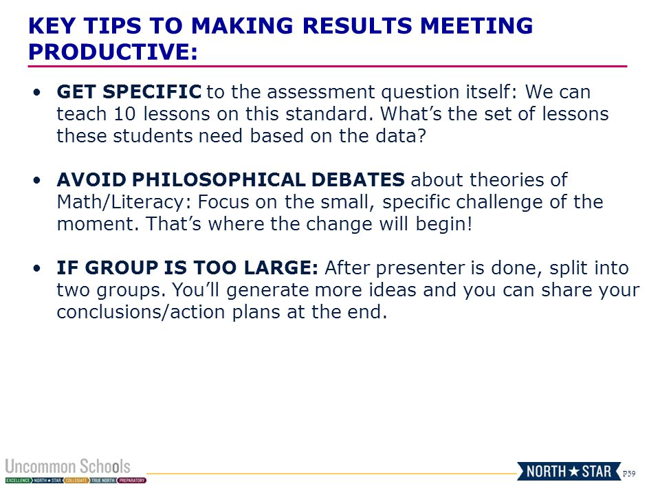 KEY TIPS TO MAKING RESULTS MEETING PRODUCTIVE: