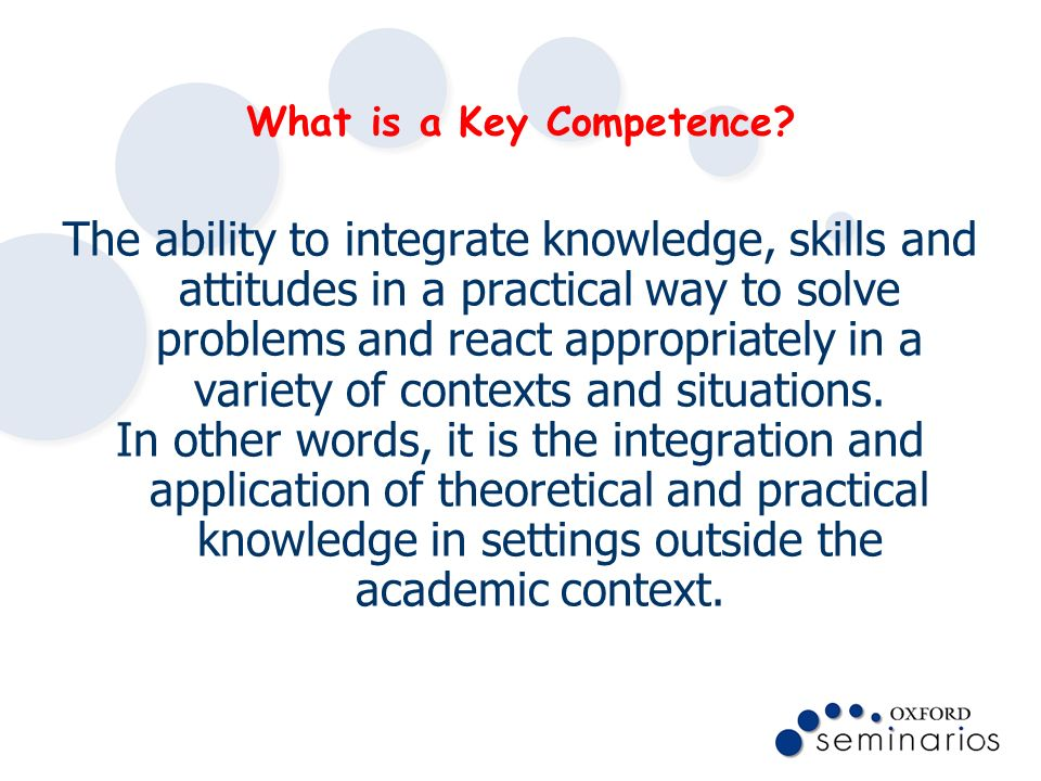 What is a Key Competence