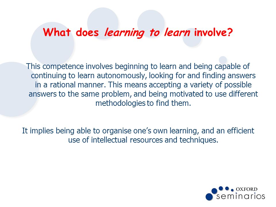 What does learning to learn involve
