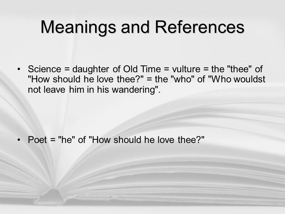 Meanings and References