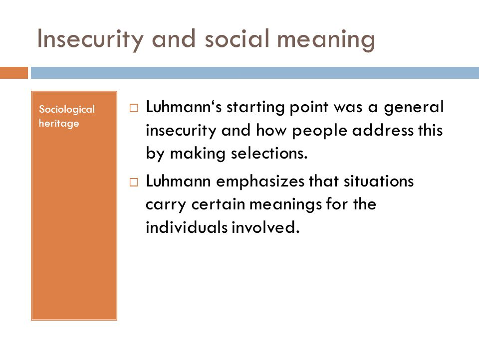 Insecurity and social meaning