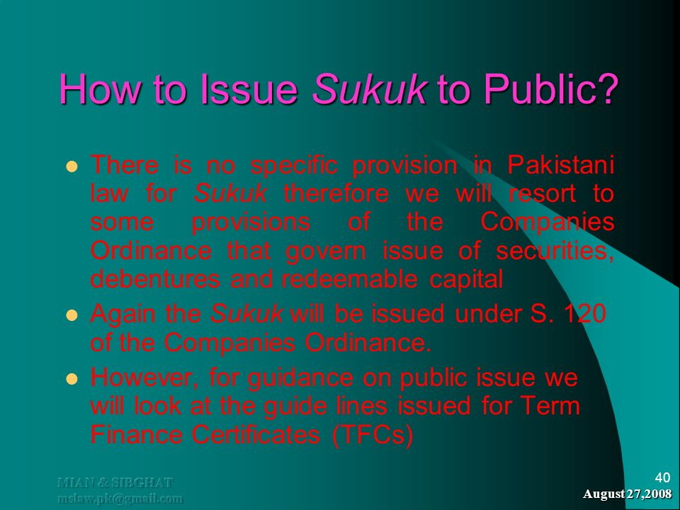 How to Issue Sukuk to Public