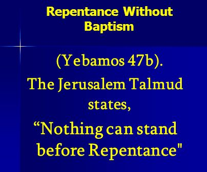 Repentance Without Baptism