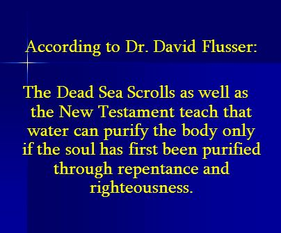 According to Dr. David Flusser: