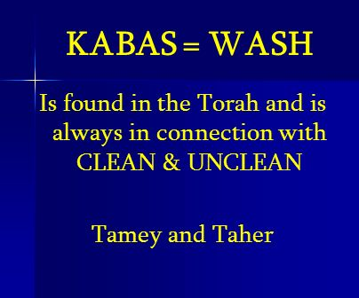 Is found in the Torah and is always in connection with CLEAN & UNCLEAN